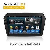 10,1 дюймов Полная сенсорная панель 2 Din Радио стерео для VW Jetta 2013 2014 2015 автомобильный gps навигация Android 8,1 OBD/TPMS/Mirror Link