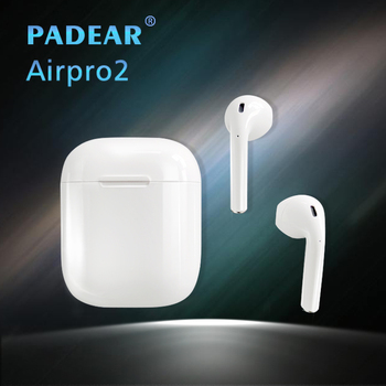 Padear Earphones Airpro2 Wireless Bluetooth Earbuds Earphone Airpro 2 for Iphone 6/7/8 plus Apple Android