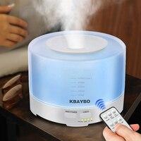 500 ml Điều Khiển Từ Xa Ultrasonic Air Aroma Humidifier Với 7 Màu LED Lights Hương Liệu Điện Essential Oil Aroma Diffuser