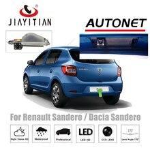 Câmera de visão Traseira Para Renault Sandero JiaYiTian/Dacia Logan Estepe 2012 ~ 2018 De Backup Câmera Reversa câmera placa de licença