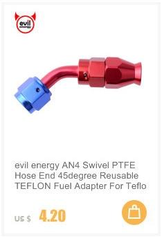 AN10 поворотный PTFE шланг концевой фитинг прямой 45 90 180 градусов для PTFE нефтяной топливной линии