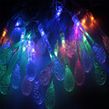 5M 20 LED Raindrop led christmas lights MultiColor Outdoor String Lights for Outside Garden Patio Party Christmas  MultiColor