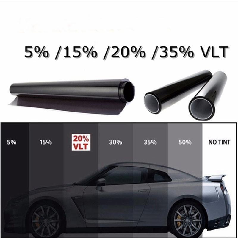 Car Window Tint Film Tinting Roll Kit 20 Vlt Gl Sticker Decal Sunshade Uv Proof Scratch Resistant For Auto Home 50 300cm Foils Aliexpress