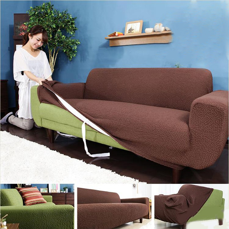 Autumn Winter Thickening Elastic Slipcover Three Seat Sofa