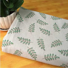 Plant Floral Printed Cotton Linen Fabric DIY Sewing Blend Quilting Home Textile Material Pillow Cover Cloth