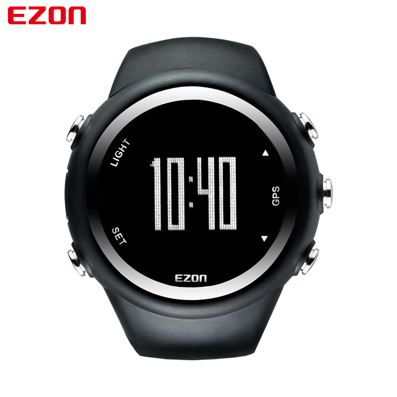EZON Mens GPS Sports Watches Waterproof Distance Calorie Counter Fashion Casual GPS Watch Digital Multifunctional Wrist Watches ezon outdoor sports for smart gps watches running male multifunctional 5atm waterproof electronic watch g1 black