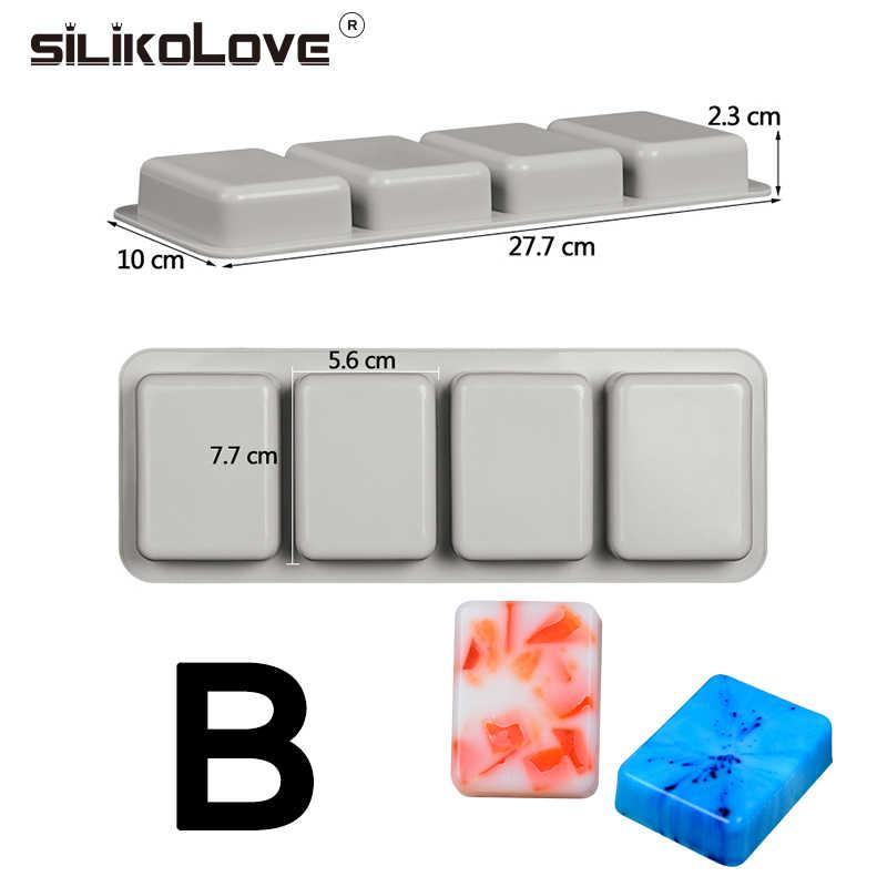 SILIKOLOVE DIY ซิลิโคนสบู่แม่พิมพ์สบู่ Handmade ทำรูปแบบ 3D แม่พิมพ์รูปไข่สแควร์สบู่แม่พิมพ์ของขวัญสนุก