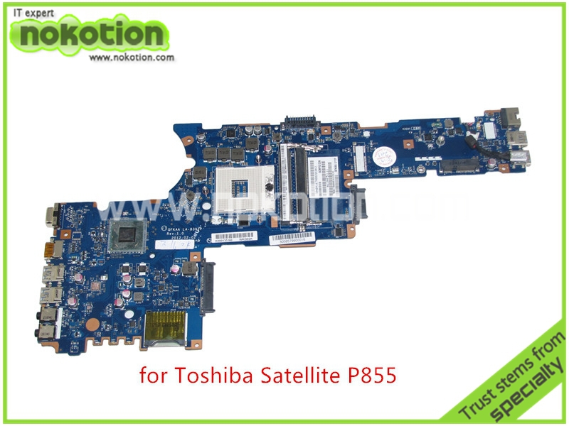 NOKOTION QFKAA LA-8392P Rev 1.0 K000135160 For toshiba satellite P850 P855 Laptop motherboard HM77 HD4000 graphics k000055760 laptop motherboard for toshiba satellite a200 a205 iskaa la 3481p rev 2a intel gl960 ddr2 without graphcis slot