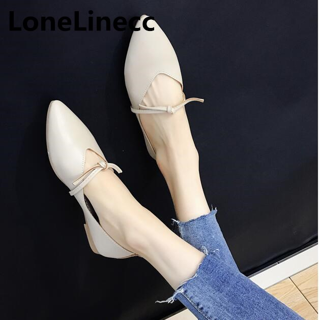 Women Vintage flat shoes ladies shoes fashion leather shoes women Pointy Toe Ballerina Ballet Loafers Slip On Shoes woman S030 ballerina wedding shoes women sweet candy ballet pointy pu leather shoes girls summer spring flat shoes butterfly bowknot