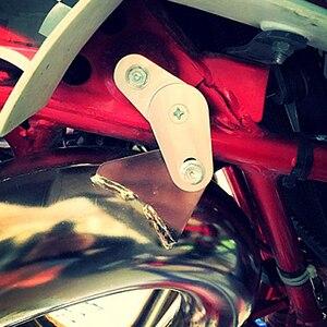 Image 5 - מתכוונן עמעם פליטת צינור קולבי הרכבה סוגר ערכות עבור Yamaha Banshee 350 YFZ350 1987 2006