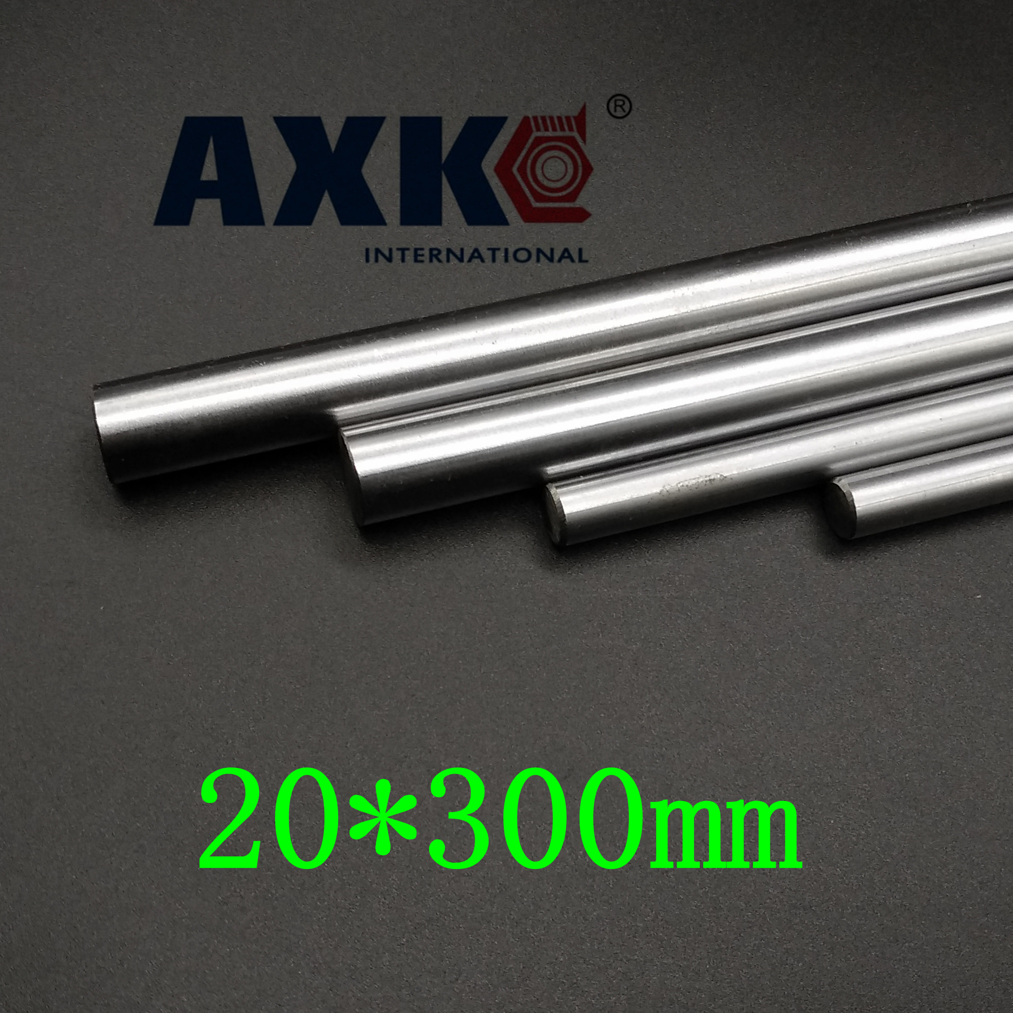 Axk 2pcs/lot 3d Printer Rod Shaft Wcs 20mm Linear Shaft 300mm Chrome Plated Linear Motion Rail Round Rod Shaft Cnc Parts Sfc20 диски helo he844 chrome plated r20