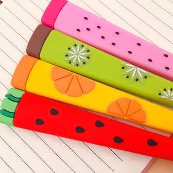 40pcs/lot creative Fruit shape watermelon silicone gel pen unisex pens roller signature pen promotion gift school office prize