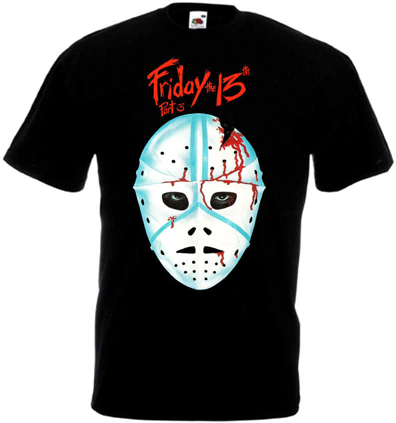 Friday The 13 v28 T-Shirt all sizes S-5XL BLACK