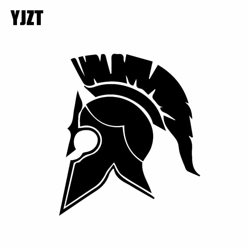 YJZT 11.1CM*12.7CM SPARTAN MOLON LABE Punisher Vinyl Decal Car Sticker Black Silver C10-01006