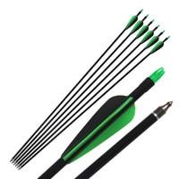 6pcs Lot 85cm Length 33 Fiberglass Arrow With Replace Arrowhead Nock Proof Spine 300 For Hunting