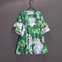 Summer Spring children Hydrangea flower dress family look clothes mom and baby girl dress matching mother daughter beach dresses