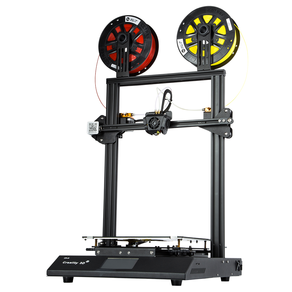 CR X 3D Printer Dual color Nozzle DIY KIT Touch Screen Large Print size Dual Fan Cool Creality 3D CR X n 2KG filament gift-in 3D Printers from Computer & Office    3