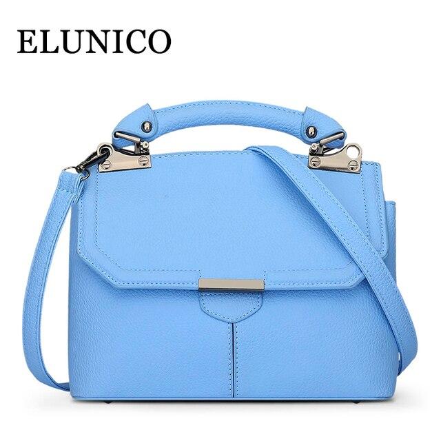 Elunico Female Small Tote Bag Summer 2018 Fashion Single Shoulder Bags Handbags Women Famous Brands Sky