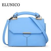 ELUNICO Female Small Tote Bag Summer 2019 Fashion Single Shoulder Bags Handbags Women Famous Brands Sky Blue Messenger Bag Bolsa