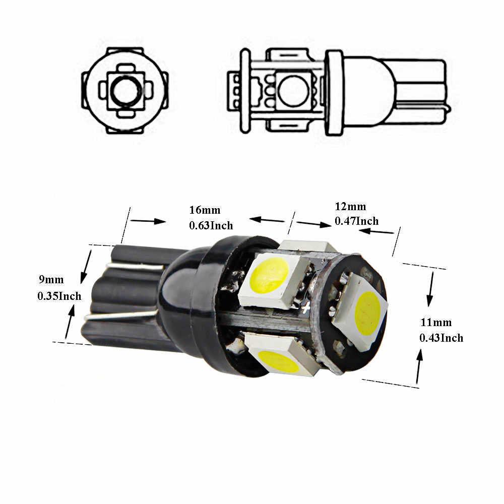 1pc 5 SMD 0.5W Wafer 5 Side  3 Chip 5050 High Brightness Automobile Bulb car led lights daytime running For bmw bau15s #5