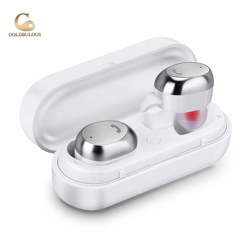 GBM9 TMS Bluetooth Earphone Headset IPX7 Waterproof Bass Stereo Bluetooth Earbuds with Charge Box for iphoneX Xiaomi Android