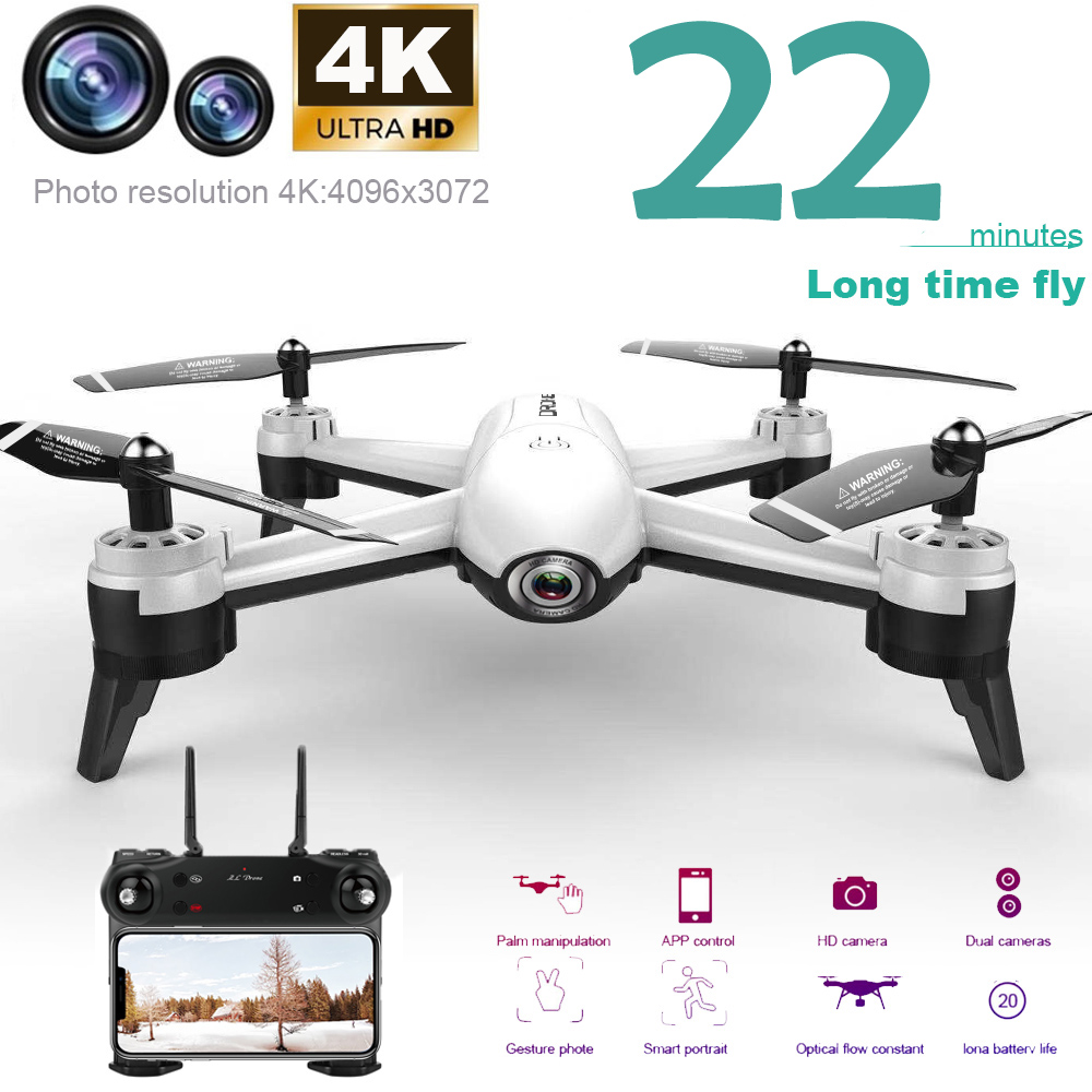 Upgraded 4K Selfie SG106 RC Drone With Dual Camera HD Helicopter Remote Control Smart Follow Optical Flow Rc Quadcopter Aircraft