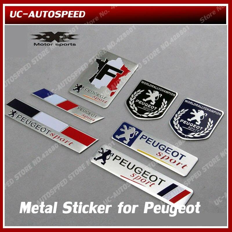 auto car 3d emblem aluminum alloy metal sticker for peugeot 207 308 3008 408 508 badge sticker. Black Bedroom Furniture Sets. Home Design Ideas