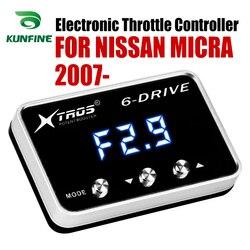 Elektroniczny regulator przepustnicy Racing akcelerator wspomagacz dla NISSAN MICRA 2007-2019 części do tuningu akcesoria