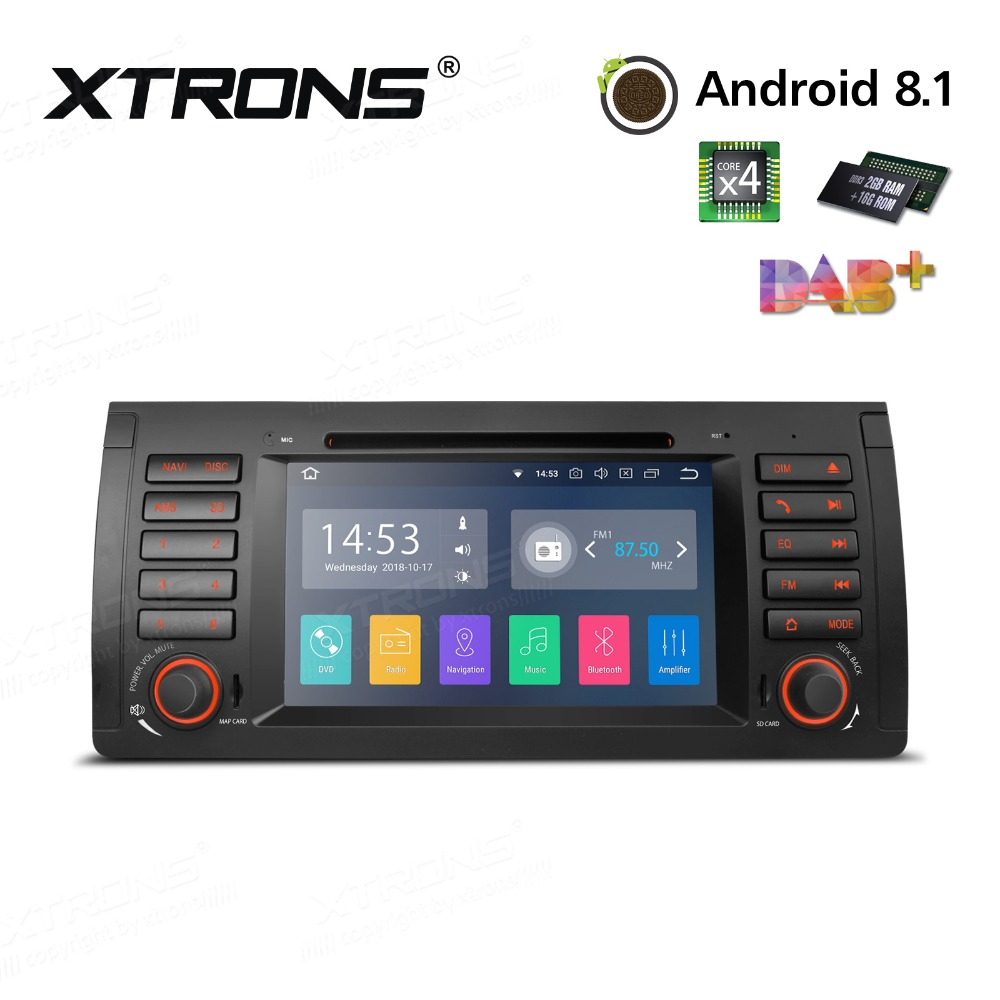 1 Din 7 Android 8.1 Car DVD Player Radio RDS CANbus OBD WIFI GPS for BMW X5 E53 1999 2000 2001 2002 2003 2004 2005 2006 image