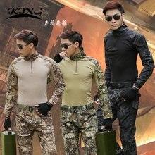 Тактический Камуфляжный костюм в стиле милитари боевая рубашка