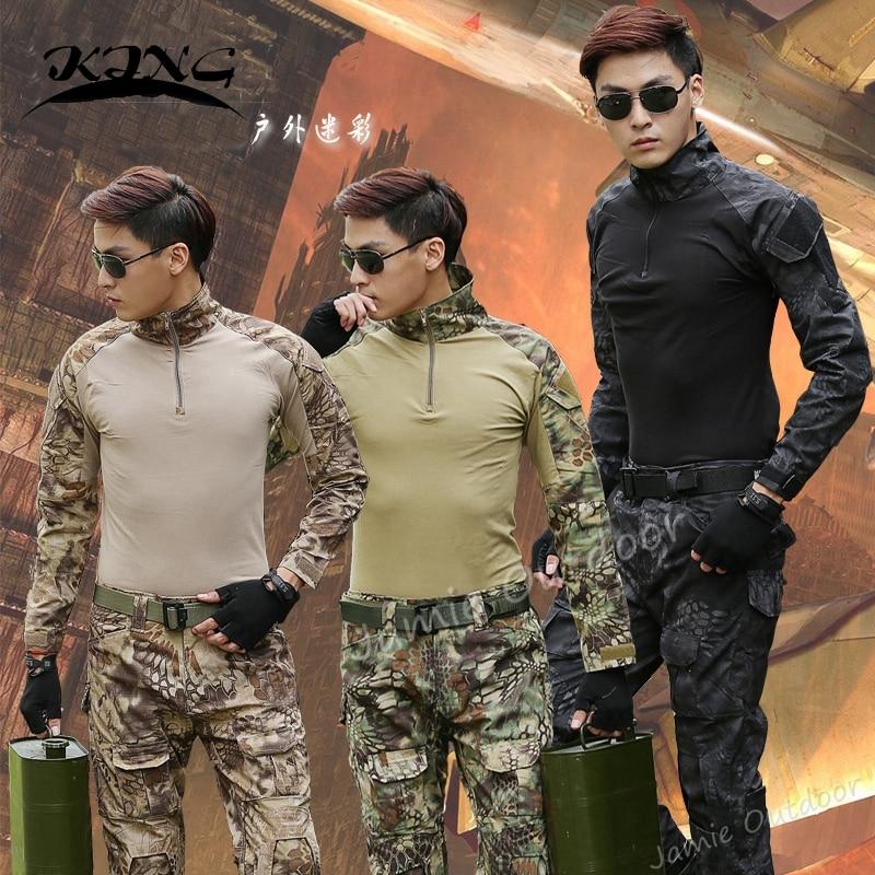 Best Selling Kryptek Mandrake Military Combat Shirt + Pants Paintball Hunting Army Uniform with Knee Pads лак паркетный protex parke cila 40 полумат 0 75л