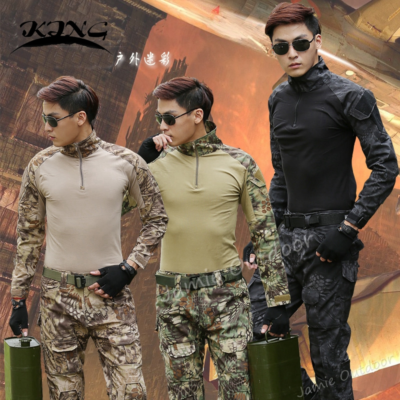 Best Selling Kryptek Mandrake Military Combat Shirt + Pants Paintball Hunting Army Uniform with Knee Pads ...