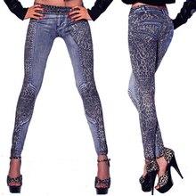 Fashion Women Ladies' Pants Leopard Slim Fit Pencil Jeans Casual Trousers
