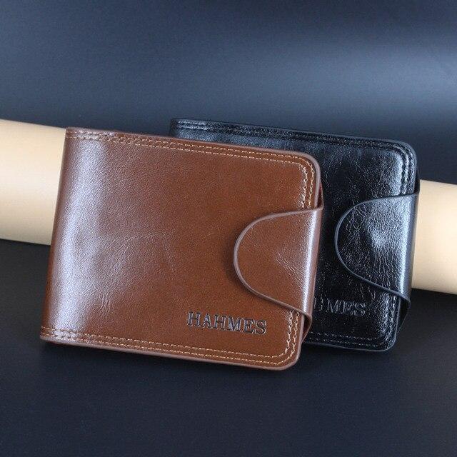 Бесплатная доставка дешевая распродажа мужские кожаные кошельки мужчины клатч кожаная мужская сумка Портмоне держатель для карт мужские короткие бумажник