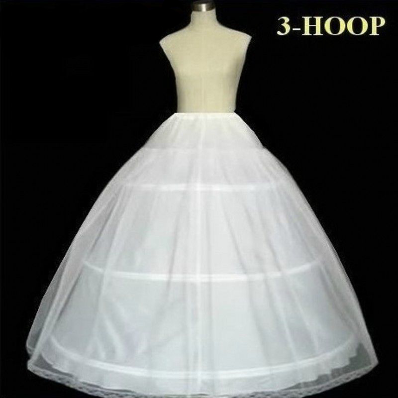 3 Hoops Ball Gown Wedding Bridal Petticoat Crinoline Accessories Ruffle Tulle Underskirts