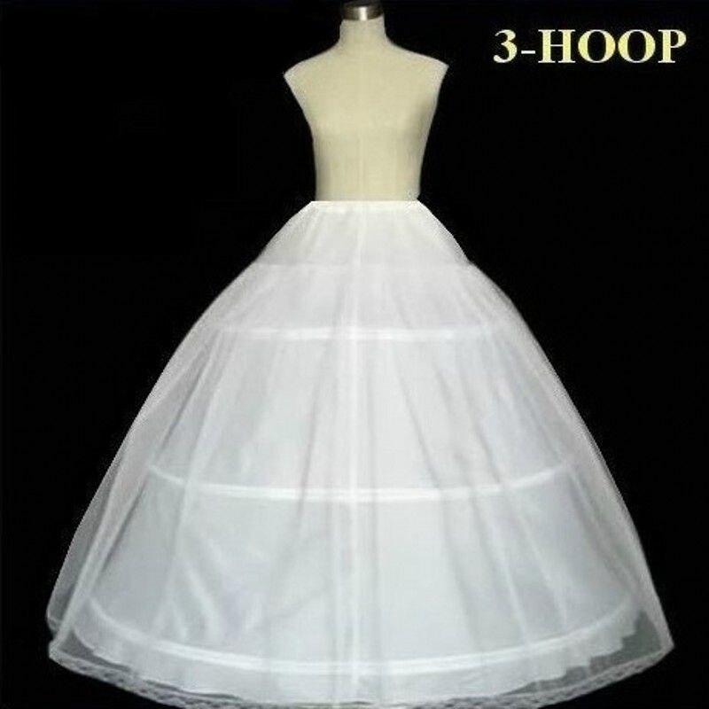 3 Hoops Ball Gown Wedding Bridal Petticoat Crinoline Wedding Accessories Ruffle Tulle Underskirts