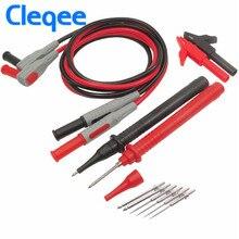 Cleqee P1300B 12-in-1 Super Multimeter Probe Replaceable Probe Clamp Multi Meter Test Lead Kits + Alligator Clips