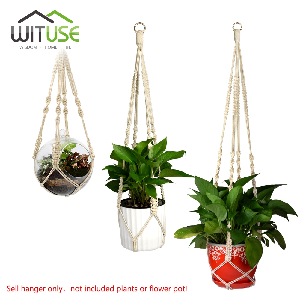 Enticing Wituse Cotton Plant Hanger Handmade Macrame Basket Flowerpot Her Liftrope Home Garden Plants Hanging Hanging Basketsfrom Wituse Cotton Plant Hanger Handmade Macrame Basket Flowerpot