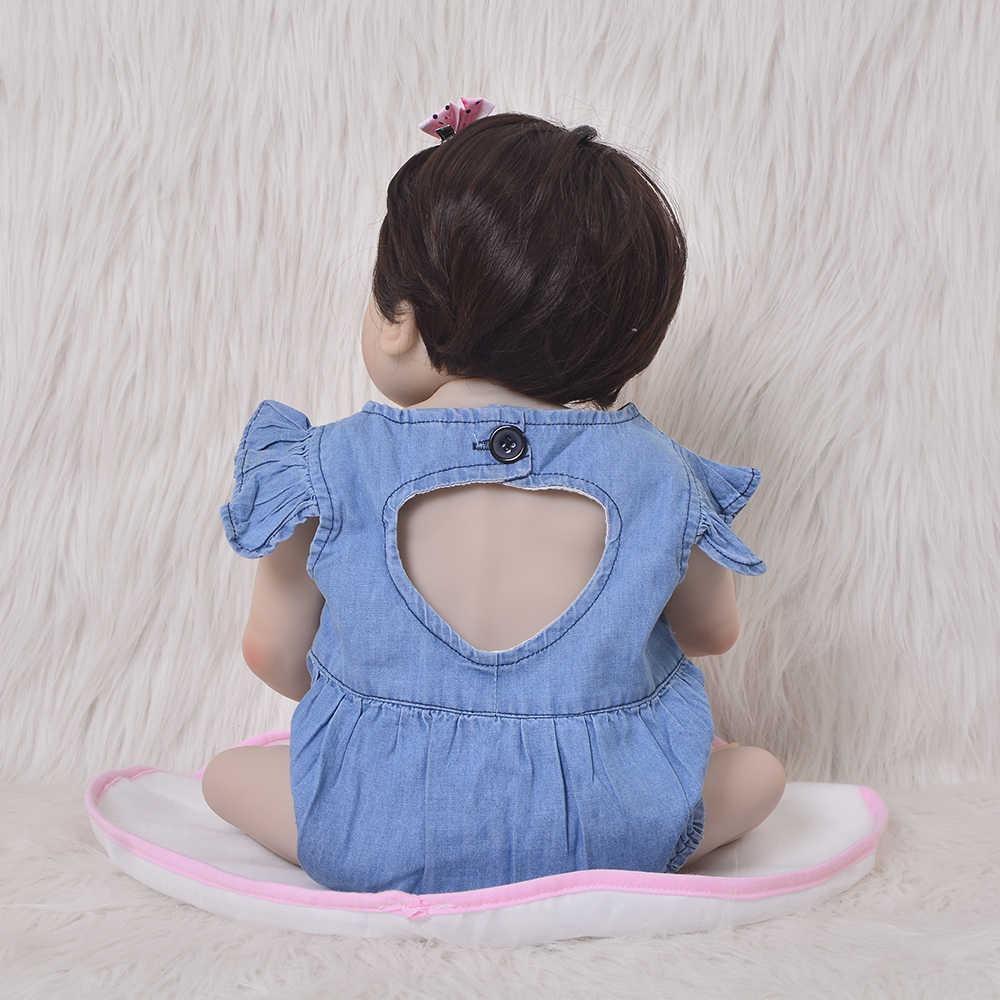 KEIUMI, новинка, 23 дюйма, куклы для маленьких девочек, силиконовые, полное тело, реалистичные, Новорожденные, Bonecas, ручная работа, детские игрушки для детей, рождественские подарки
