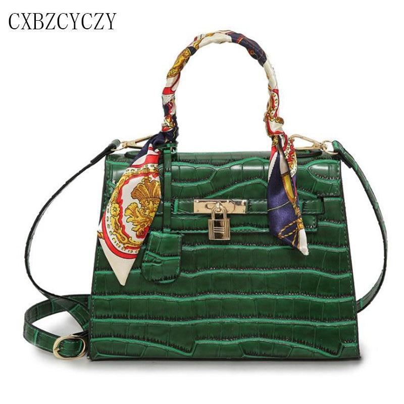 Luxury Handbags Women Bags Designer Crocodile pattern Shoulder Bag Famous Brand Crossbody Messenger Bag Lock PU Leather Tote Bag