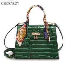 Luxus-handtaschenfrauen-designer krokoprägung Umhängetasche Berühmte Marke Crossbody Umhängetasche Lock Pu-leder-einkaufstasche