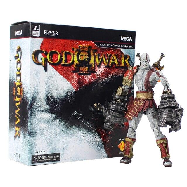 NECA Deus Da Guerra Kratos Ghost of Sparta Collectible Toy Modelo PVC Figura de Ação Kratos Com Arma Espada