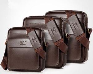 Image 3 - 2020 ใหม่ผู้ชาย Messenger กระเป๋าหนังกระเป๋าสะพายชาย Casual MINI FLAP back Pack Man ธุรกิจ IPAD กระเป๋า Messenger