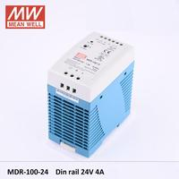 Meanwell MDR 100W 12V 7.5A 24V 4A 48V 2A Industrial DIN Rail Mounted led Power Supply 100W 12V MDR 100 24 SWITCH POWER SUPPLY DR