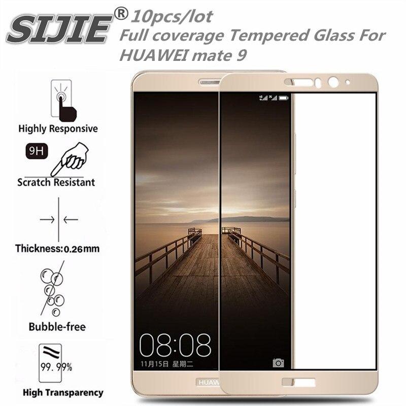 Купить 10 шт полное покрытие закаленное Стекло для Huawei Mate 9 MHA-AL00 экран защитный смартфон закаленное случае 9 H на 5,9 дюйма 3D clear на Алиэкспресс