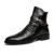 Nuevos Hombres de la Moda Botas de Otoño Zapatos de Cuero Del Dedo Del Pie Puntiagudo Hightops Casual Martin Botas Zapatos Calientes Botines Casuales de Bota Masculina