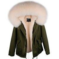 brand parka 2019 new winter jacket women parkas real fox fur collar warm thick faux fur inside big fur parka