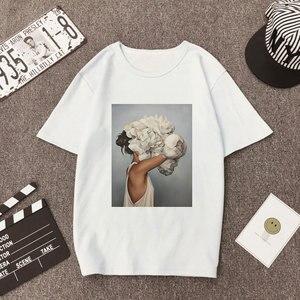 Plus Size Women Summer Vogue Print Casual T-shirt Tops Lady