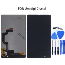 LCD + Touch Digitizer per Umidigi Kit di Cristallo LCD Prova di 100% OK + di Tocco Digitale Dello Schermo per UMI di Cristallo + trasporto Libero