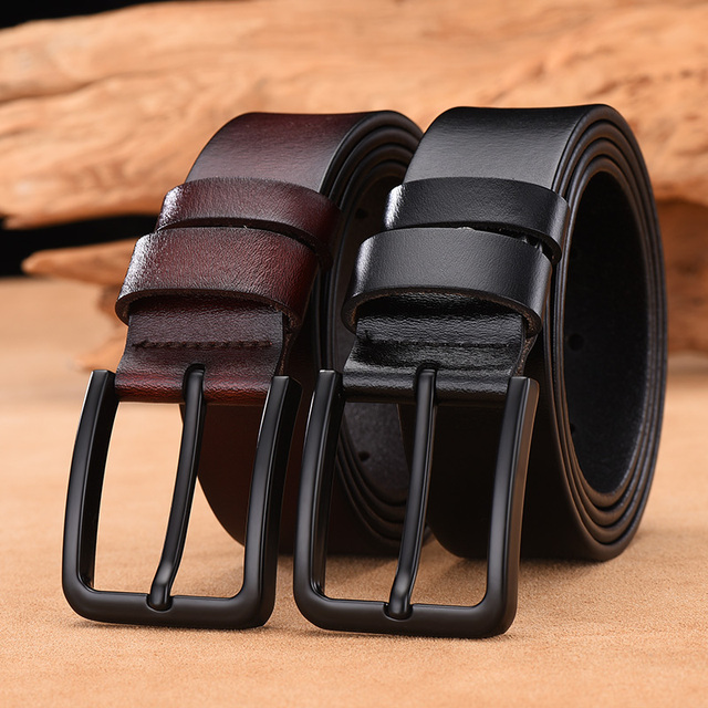 Genuine cow leather luxury strap male belts 1